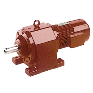 Helical worm gear reducer